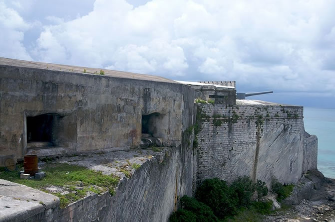 Fort St Catherine, St George's Island, Bermuda. Casemate exterior.